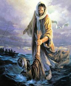 Jesus caminha sobre as aguas