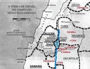 MAPA - NORTE DA PALESTINA